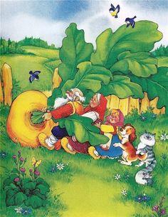 "Photo from album ""Репка"" on Yandex. Russian Cartoons, Russian Folk, Forest Fairy, Stories For Kids, Kindergarten Activities, Nursery Rhymes, Storytelling, Illustrators, Art For Kids"