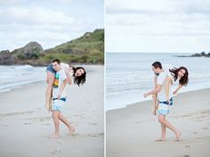 Wild & Grace. Boutique Wedding Photography Auckland, New Zealand and Worldwide | Fun Kiwi Xmas Love Story Session at Te Arai Beach by Wild&Grace Photography