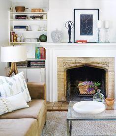 A peek into the home of blogger Karen Bertelsen of The Art of Doing Stuff found on Oh Hello.