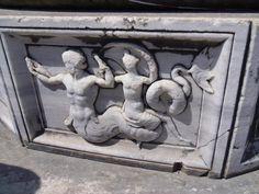 Apollon Temple, Didyma, Turkey. Figures on columns