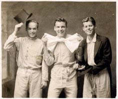 """1935 Christmas card photo from John F. Kennedy and his college roommates. """"This was JFK's freshman year at Princeton. He became ill that year, withdrew, and later attended and graduated from Harvard."""""""