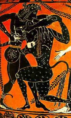 A later Greek depiction of the story of the Minotaur
