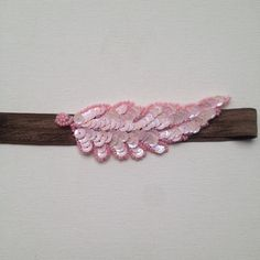 Beaded Vintage Applique Headband in Pink & Forest by ClaireFlair