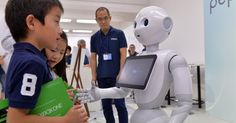 Pepper the robot is ready to greet the great American public