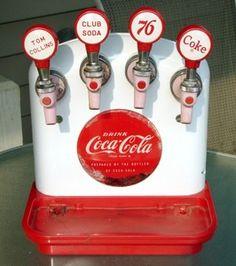 coke images rare | ... Coke Tombstone Cornelius 4 Tap Soda Fountain Dispenser Machine - Rare
