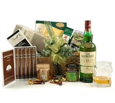 Give Dad a real treat with 12 year old Glenlivet whiskey & five Cuban Cigars £125