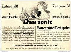 Original-Werbung/ Anzeige 1912 - DESI SPRITZ DESINFEKTION / GEGEN MOTTEN - DRESDEN - ca. 180 x 130 mm