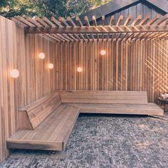 Garden Design Backyard - New ideas Backyard Seating, Backyard Patio Designs, Backyard Pergola, Garden Seating, Backyard Landscaping, Terrace Garden, Garden Beds, Terrazas Chill Out, Modern Front Yard