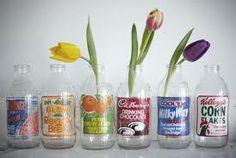 milk bottle wedding flowers - Google Search