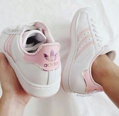 baby pink adidas shoes, Adidas outfit ideas http://www.justtrendygirls.com/adidas-outfit-ideas/