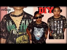 DIY Distressed & Bleached T-Shirt | FASHION - YouTube