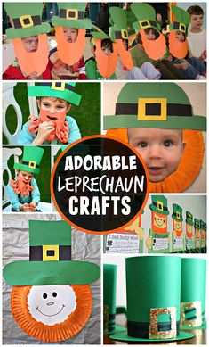 Leprechaun Crafts from Crafty Morning Saint Patricks Day Art, St Patricks Day Hat, St Patrick's Day Crafts, St Patricks Day Crafts For Kids, March Crafts, Crafts For Kids To Make, Kid Crafts, Baby Crafts, Stick Crafts