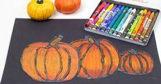 This Glue resist art project for kids is perfect for autumn and fall. The pumpkins look amazing and it is so simple to do.