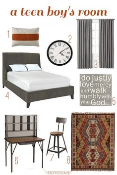 Modern Teen Boys Room Ideas and Inspiration. Source links are in the post!