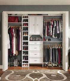 Reach In Closet Organization - Simple Hack Small Closet Organization Tricks. Master Closet, Closet Bedroom, Home Bedroom, Girls Bedroom, Closet Redo, Bedroom Furniture, Wardrobe Closet, Closet Doors, Master Bedrooms
