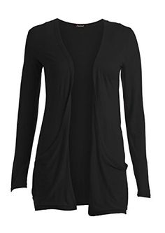 91f7ad9af Ladies Women Boyfriend Open Cardigan with Pockets Long Sleeve All Sizes at Amazon  Women s Clothing store