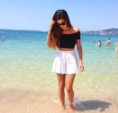 beach, girl, and summer-bilde