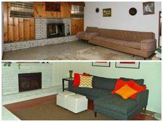 "20 Something Real Estate: Living Room ""Before and After"" #beforeandafter #before #after #diy #homedecor #decor #firsttimehomebuyer #ideas #20something"