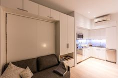 The first thing you notice when you enter the model unit at Carmel Place, the city's first all-micro-unit building, is how big it feels. Despite measuring only 302 square...