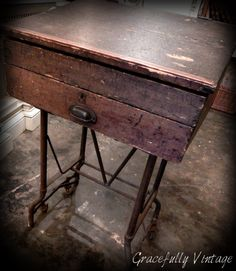 Old Industrial Drafters Desk Piece