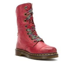 Love these! May have to get these for myself for Christmas. Dr Martens Women's Aimilie Lace Up Biker Ankle Boots Cherry Red Darkened Mirage | eBay