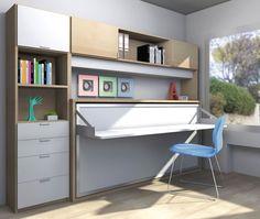 R264 - Cama abatible individual con mesa complemento también abatible - Facil Mobel, fábrica de muebles a medida en barcelona, catálogo de armarios, juveniles, salones, dormitorios matrimoniales y complementos. Ofertas y solicitud de presupuestos.