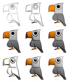 Now you know how to draw a cool cartoon eagle using a vector application! :)