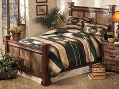 Shop Lone Star Western Decor today and take savings up to on Western bedroom furniture, for example this Antler Alder Wood Bedroom Collection! Western Bedroom Decor, Western Bedding, Rustic Bedding, Wood Bedroom, Western Decor, Bedroom Furniture, Modern Bedding, Luxury Bedding, Wooden Furniture