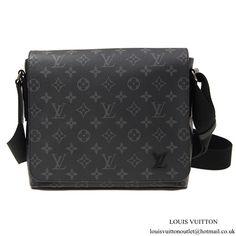 ae55c6aa7ded Louis Vuitton M44000 District PM Messenger Bag Monogram Eclipse Canvas