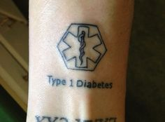 My diabetes tattoo that I just got in replacement of wearing a medic alert bracelet.