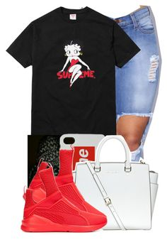"""Supreme Betty"" by danimack03 ❤ liked on Polyvore featuring OBEY Clothing, MICHAEL Michael Kors and Puma"