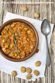 Receta paso a paso de cómo hacer el guiso tradicional pica pica de sepia mallorquín, de forma tradicional y en Thermomix ¡Pruébalo y verás que bueno!