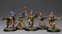 Night Dancers set, one example out of thousands. Necromunda Gangs, Fantasy Battle, Warhammer Models, Fantasy Miniatures, The Grim, Warhammer 40000, Painting Inspiration, Minis, Cool Stuff