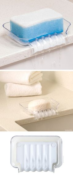 Trickle Tray - a clever soap dish that redirects the run off water to the sink #product_design