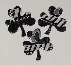 3 Shamrock Clover Magnets AMP Energy Drink Can by SodaCanBuddies