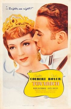 Tovarich L-R: Claudette Colbert Charles Boyer On Poster Art 1937 Movie Poster Masterprint (11 x 17)