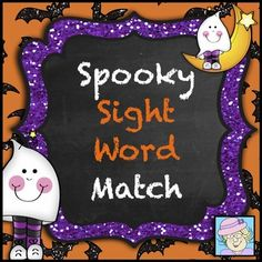 FREE! Spooky Sight Word Match. I made this engaging Halloween-themed game to provide my kinders with more sight word practice. It includes the pre-primer Dolch sight words, as well as an EDITABLE page so you can add your own words! There is also a directions page for the matching game, although the cards could be used to play Go Fish or other games, as well.