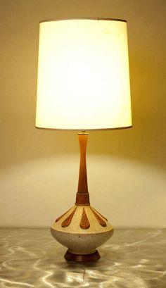 Stunning Mid Century Modern GENIE BOTTLE Table Lamp