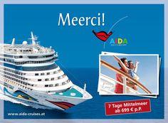 AIDA Cruises: Outdoor 2012 | Meerci für Kreuzfahrt auf AIDA | By Smolej & Friends, Vienna | www.smolej.at Billboard, Vienna, Friends, Cruise, Advertising, Tours, Outdoor, Creative, Movie Posters