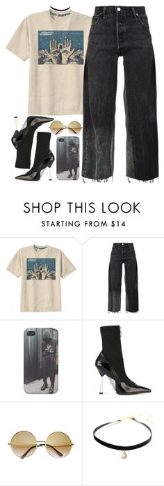 """""""Happy Thanksgiving! Give Thanks."""" by oh-aurora ❤ liked on Polyvore featuring Retrò, RE/DONE, Versace and ZeroUV"""