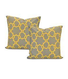 Marabella  Printed Cotton Cushion Cover (Pair)