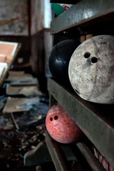 Bowl No More by Ron Osborn.  Abandoned bowling alley, Peoria, Illinois.