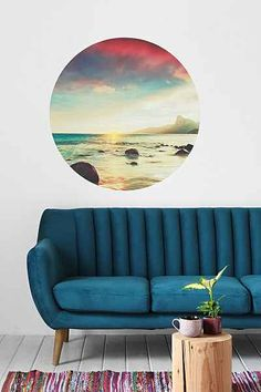 Summer memories on the wall. Walls Need Love Sunset Beach Wall Decal - Urban Outfitters #UOonCampus #UOContest