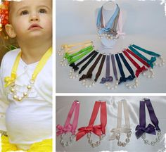 Beautiful Ribbon and Pearl Necklaces - Many Options to Choose From at VeryJane.com #necklace #pearls