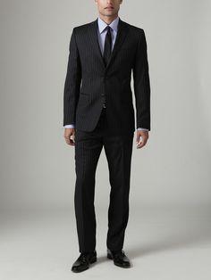 Versace  Multi Pinstripe Suit