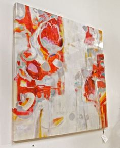 Description:  Greenwich Village Artwork; A lively, bright homage to the Abstract Expressionist movement of modern art painting in the 1950's - 1970's.  Materials; Acrylic Glass Coating