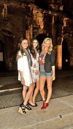 Nina Dobrev, Candice Accola and Malese Jow.