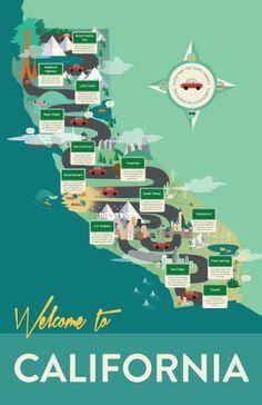 California Infographic by Krystal Lauk, via Behance