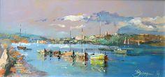 Branko Dimitrijevic - Rovinj - Croatia, Oil on canvas, 20x40cm