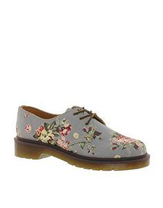 Dr Martens Denim Print 1461 Flat Shoe